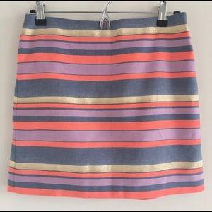 J. Crew Factory Striped Mini Skirt